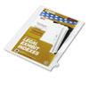 KLF82249 80000 Series Legal Index Dividers, Side Tab, Printed