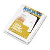 KLF82250 80000 Series Legal Index Dividers, Side Tab, Printed