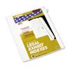 KLF82252 80000 Series Legal Index Dividers, Side Tab, Printed