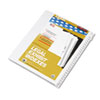 KLF83101 80000 Series Legal Index Divider Set, Side Tabs, Printed