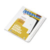 KLF83151 80000 Series Legal Index Divider Set, Side Tabs, Printed
