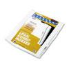 KLF91018 90000 Series Legal Exhibit Index Dividers, Side Tab, Printed