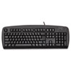 KMW64338 Comfort Type USB Keyboard, 104 Keys, Black KMW 64338