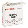 KOH25900J01 Adhesive Drafting Dots w/Dispenser, 7/8in dia, White, 500/Box KOH 25900J01
