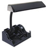 LEDL9083 Deluxe Organizer Fluorescent Desk Lamp, 15-1/2 Inches High, Black LED L9083