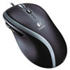 LOG910001204 M500 Corded Mouse, Three-Button/Scroll, Black/Silver LOG 910001204