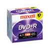 MAX639005 DVD+R Discs, 4.7GB, 16x, w/Jewel Cases, Silver, 10/Pack MAX 639005