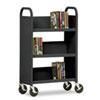 Sandusky Lee Three-Shelf Single-Sided Sloped Shelf Book Cart