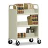 Sandusky Lee Three-Shelf Double-Sided Sloped Shelf Book Cart