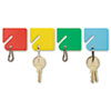 MMF2013004W47 Slotted Rack Key Tags, Plastic, 1 1/2 x 1 1/2, Assorted, 20/Pack MMF 2013004W47