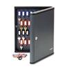 MMF2017260G2 Security Key Cabinets, 60-Key, Steel, Charcoal Gray, 12 x 2 3/8 x 14 3/4 MMF 2017260G2