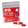 MMF Industries Snap-Hook Self-Locking Octagonal Key Tags