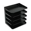 MMF26425L004 Steelmaster Multi-Tier Horizontal Letter Organizers, Five Tier, Steel, Black MMF 26425L004
