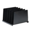 MMF2645VABK Angled Vertical Organizer, Five Sections, Steel, 14 1/2 x 9 7/8 x 8 3/4, Black MMF 2645VABK