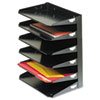 MMF2646HBK Steelmaster Multi-Tier Horizontal Letter Organizers, Six Tier, Steel, Black MMF 2646HBK