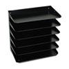 MMF2646HLBK Steelmaster Multi-Tier Horizontal Legal Organizers, Six Tier, Steel, Black MMF 2646HLBK