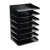 MMF2647HBK Steelmaster Multi-Tier Horizontal Letter Organizers, Seven Tier, Steel, Black MMF 2647HBK