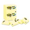 MMM65324VADB Original Notes, 1-1/2 x 2, Canary Yellow, 24 90-Sheet Pads/Pack MMM 65324VADB