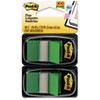 MMM680GN2 Standard Tape Flags in Dispenser, Green, 100 Flags/Dispenser MMM 680GN2
