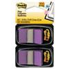 MMM680PU2 Standard Tape Flags in Dispenser, Purple, 100 Flags/Dispenser MMM 680PU2