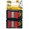 MMM680RD2 Standard Tape Flags in Dispenser, Red, 100 Flags/Dispenser MMM 680RD2
