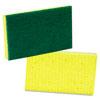 MMM74 Medium-Duty Scrubbing Sponge, 3-1/2 x 6-1/4, Yellow/Green,20/Carton MMM 74