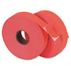 MNK925561 Pricemarker 1156 One-Line Labels, 3/4 x 1-1/4, Fluorescent Red, 2 Rolls/Pack MNK 925561