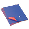 PAC54371 Tandem Tones Poster Board, 14 pt., 22 x 28, Blue/Red, 25 Sheets/Carton PAC 54371