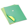 PAC54391 Tandem Tones Poster Board, 14 pt., 22 x 28, Green/Yellow, 25 Sheets/Carton PAC 54391