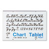 PAC74630 Chart Tablets w/Cursive Cover, Ruled, 24 x 16, White, 30 Sheets/Pad PAC 74630