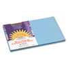 PAC7607 Construction Paper, 58 lbs., 12 x 18, Sky Blue, 50 Sheets/Pack PAC 7607