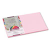 PACP7012 Peacock Sulphite Construction Paper, 76 lbs., 12 x 18, Pink, 50 Sheets/Pack PAC P7012