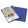PACP7409 Peacock Sulphite Construction Paper, 76 lbs., 9 x 12, Blue, 50 Sheets/Pack PAC P7409