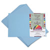 PACP7612 Peacock Sulphite Construction Paper, 76 lbs., 12 x 18, Sky Blue, 50 Sheets/Pack PAC P7612