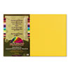 PACP9312 Peacock Sulphite Construction Paper, 76 lbs., 12 x 18, Gold, 50 Sheets/Pack PAC P9312
