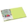 PACP9612 Peacock Sulphite Construction Paper, 76 lbs., 12 x 18, Hot Lime, 50 Sheets/Pack PAC P9612