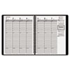 "AAG7086505 Recycled Weekly Appointment Book, Black, 6 7/8"" x 8 3/4"", 2015-2016 AAG 7086505"