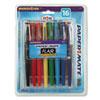 PAP70644 Point Guard Flair Porous Point Stick Pen, Assorted Ink, Medium, 16 per Pack PAP 70644