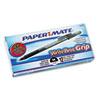 PAP8807987 Write Bros Grip Ballpoint Stick Pen, Black Ink, Medium, Dozen PAP 8807987