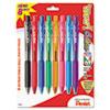 PENBK440BP8M WOW! Ballpoint Retractable Pen, Assorted Ink, Medium, 8 per Pack PEN BK440BP8M