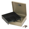 PMC04962 Steel Personal Cash/Security Box w/4 Compartments, Key Lock, Pebble Beige PMC 04962