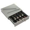 PMC04964 Steel Cash Drawer w/Alarm Bell & 10 Compartments, Key Lock, Stone Gray PMC 04964