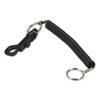 PMC04992 Key Coil Chain 'N Clip Wearable Key Organizer,Flexible Coil, Black PMC 04992