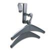 QRT20702 Over-The-Panel Hook with Steel Double-Garment Hanger, 1 3/4 x 6 7/8, Black QRT 20702