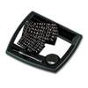 QRT25035 Tack & Write Nameplate, Dry-Erase, 10 1/2 x 9, Black/White, Black Frame QRT 25035