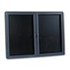 QRT2964LM 2-Door Enclosed Magnetic Directory, 48 x 36, Black, Gray Frame QRT 2964LM