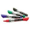 QRT5001M EnduraGlide Dry Erase Markers, Chisel Tip, Assorted Colors, 4/Set QRT 5001M