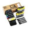QRT558 Dry Erase Marker Caddy Kit, Chisel Tip, 4 Assorted Colors, 8/Set QRT 558