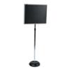 QRT7920M Adjustable Single-Pedestal Magnetic Letter Board, 20 x 16, Black/Gray Frame QRT 7920M