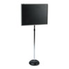 QRT7921M Adjustable Single-Pedestal Magnetic Letter Board, 24 x 18, Black, Gray Frame QRT 7921M